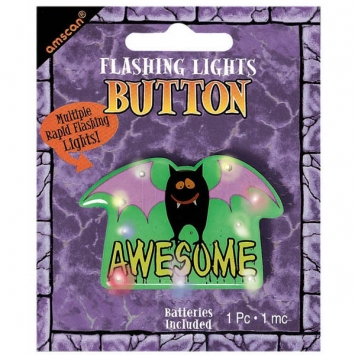 Awesome Flashing Lights Metal Button