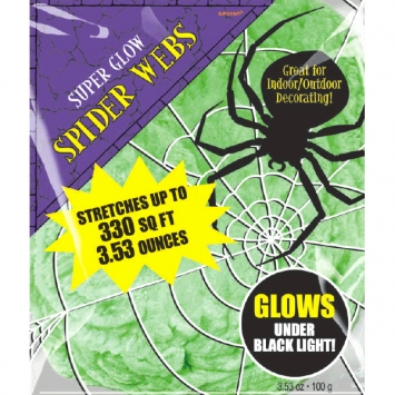 Green Polyester Spider Webs 3.53 oz