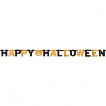 Happy Halloween Foil Letter Banner 7.75 ft