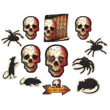 Creepy Carnival Value Pack Paper Cutouts 12ct