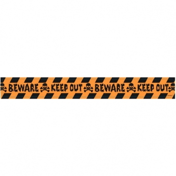 Halloween Keep Out Plastic Caution Tape 100ft