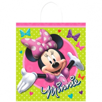 Disney Minnie Mouse Plastic Handle Treat Bags