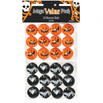 Halloween Rubber Bounce Ball 24ct