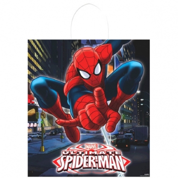 Spider-Man Plastic Handle Treat Bags