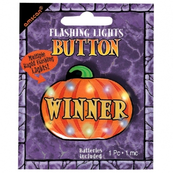 Winner Flashing Lights Metal Button