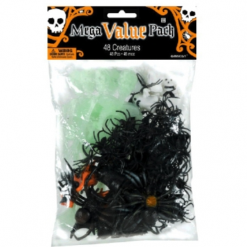 Halloween Plastic Creature Favors 48ct