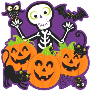 Skeleton Pumpkin Patch Cutout Bulk