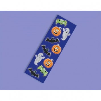 Cute Halloween Glitter Sticker Strips 6ct