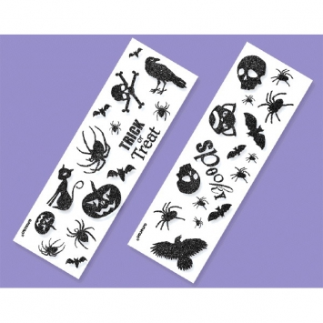 Halloween Glitter Sticker Strip 6ct