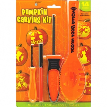 Basic Pumpkin Carving Kit with Stencils
