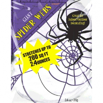 Giant White Polyester Spider Webs 2.1 oz