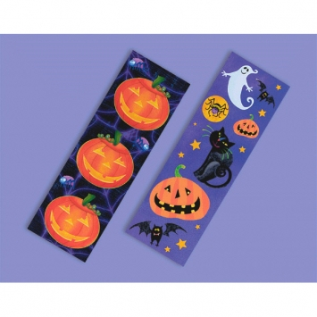 Halloween Fun Printed Sticker Strip 8ct