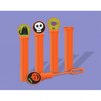 Halloween Plastic Bubble Tube 4ct