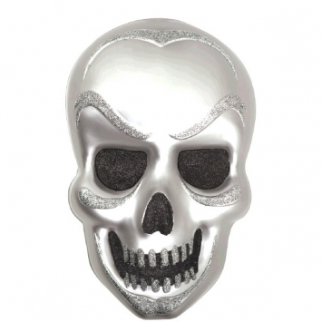 Skull Vac Form Decoration 21 in.