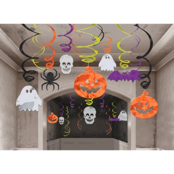 Halloween Foil Swirl Mega Value Pack 30ct