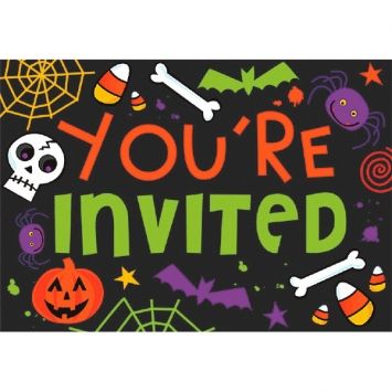 Spooktacular Postcard Invitation Value Pack 20ct