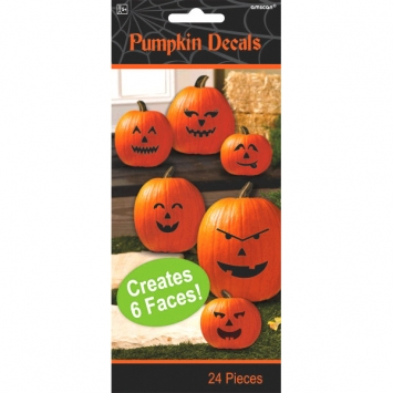 Pumpkin Decals 3ct