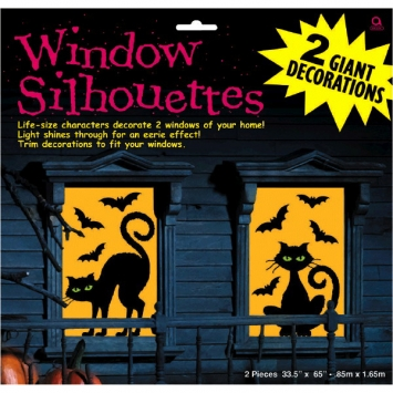 Cats & Bats Plastic Window Silhouette