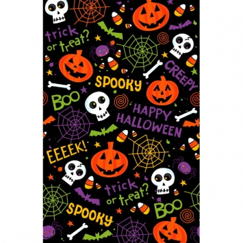 Spooktacular Plastic Table Cover 3ct