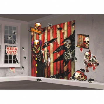Creepy Carnival Scene Setter Mega Value Wall Decorating Kit