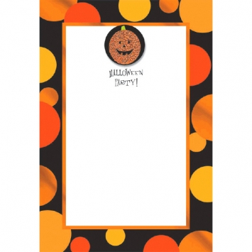 Sparkle Pumpkin Imprintable Invitation