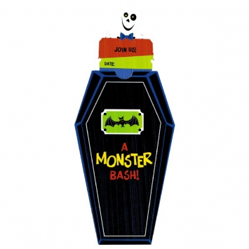 Monster Bash Novelty Invitation 8ct