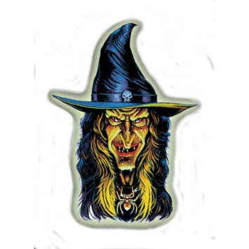 Witch Glow-In-The-Dark Bulk Printed Paper Cutouts 18 x 13 in