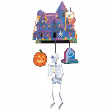 3-D Spook Central Paper Mobile 24 in.