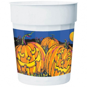 Halloween Night Plastic Party Cup 16 oz.