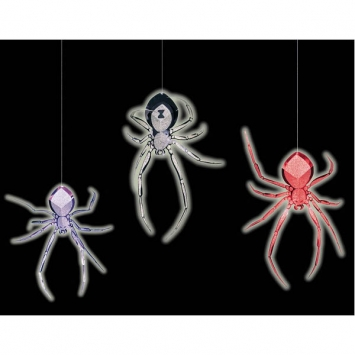3-D Spider Glow-In-The-Dark Foil Hanging Decoration 18 in.