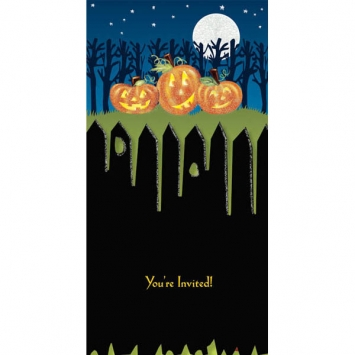 Pumpkins Tiny Twinkler Invitation 8ct