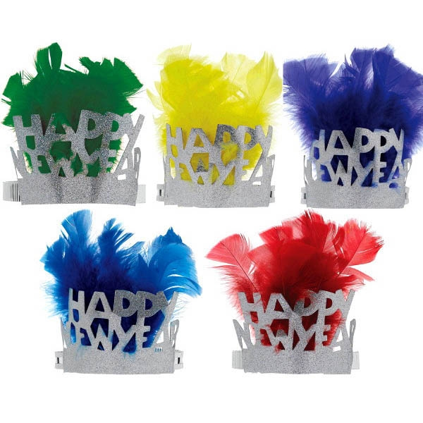 Feathered Paper New Year Assorted Tiaras