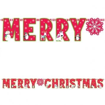 Joyful Snowman Merry Christmas Banner