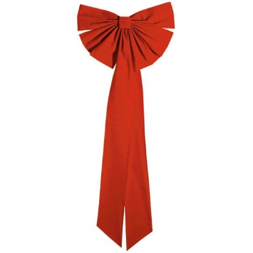 Giant Red Flocked Bow