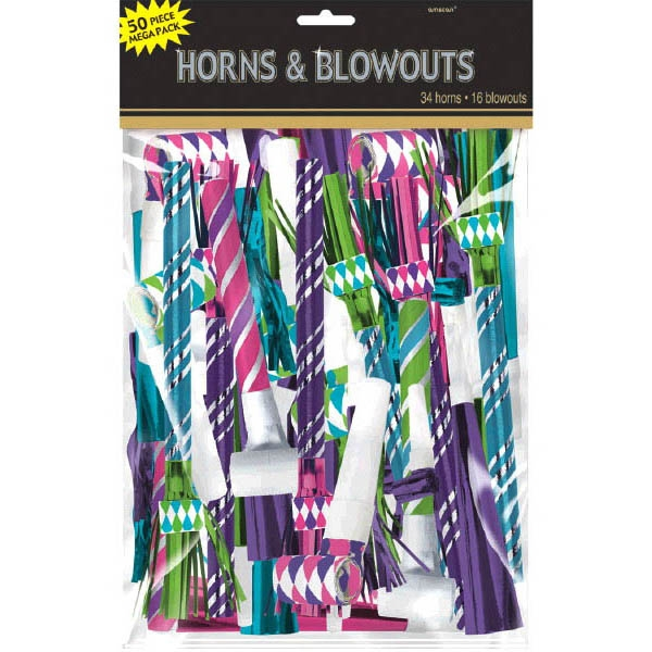 Horn Blowout Mega Value Pack - Pink Black & Silver