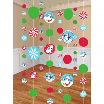 Joyful Snowman Paper String Decorations