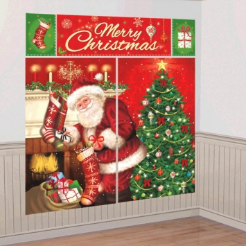 Magical Christmas Wall Scene Decorating Kit