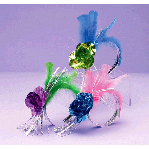 Fashion Fantasy Rose Foil & Feather Tiaras