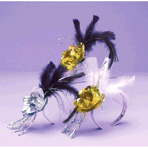 Evening Elegance Rose & Feather Tiara