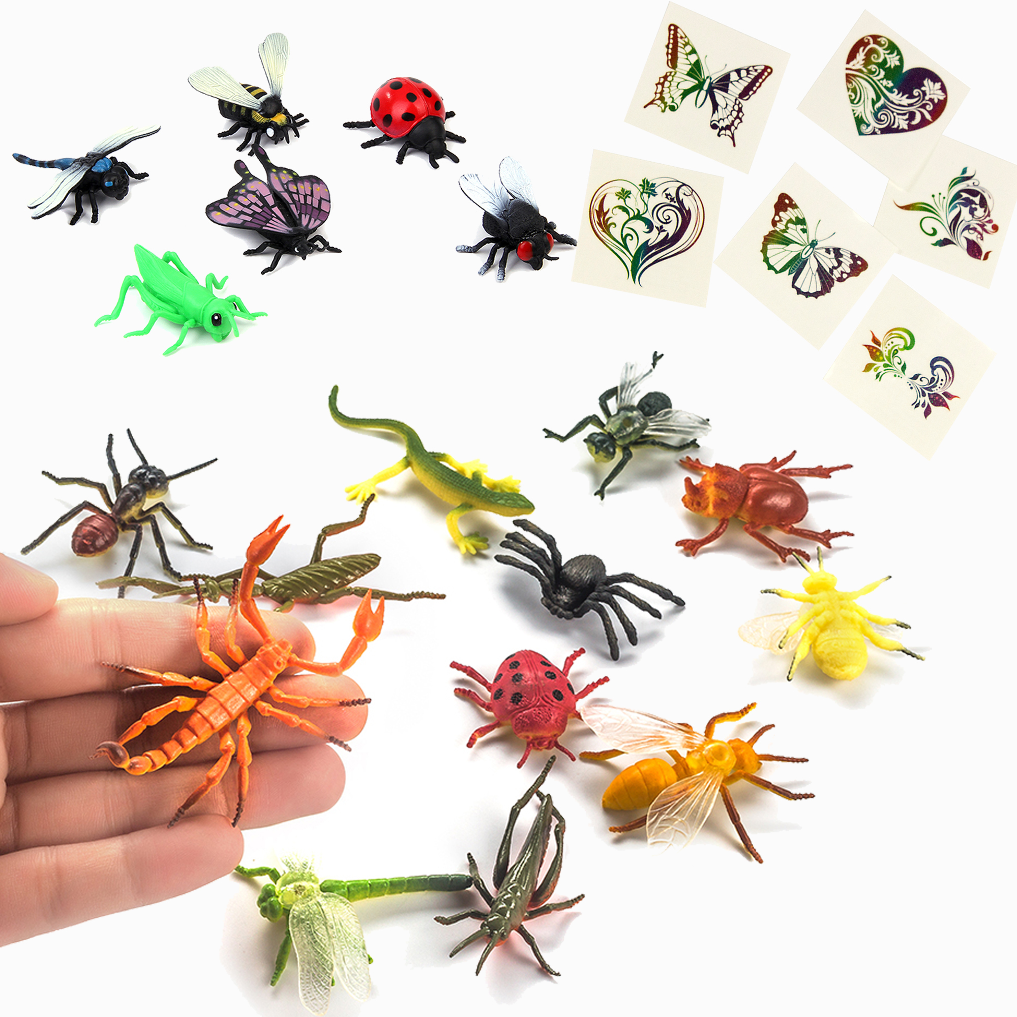 Insect figures party pack