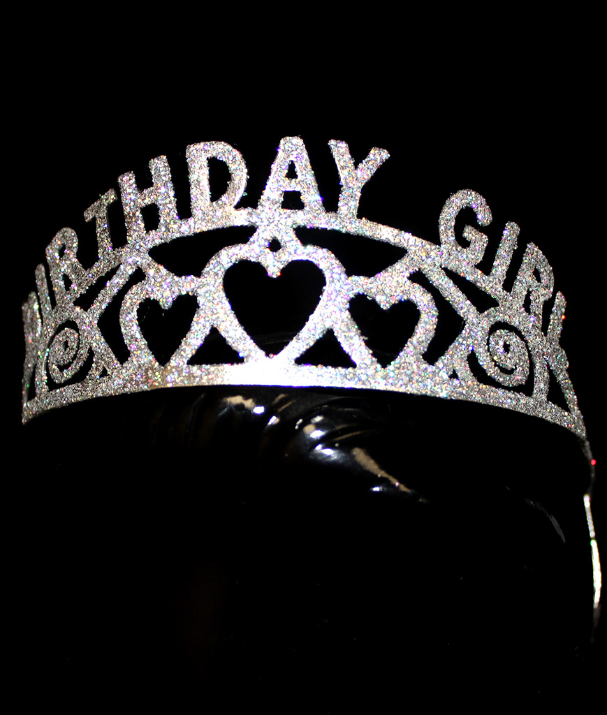 Glitter Tiara Birthday Girl