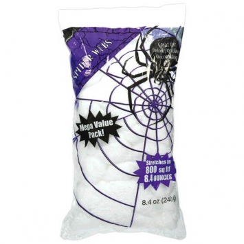 Big Pack Stretchable Polyester Spider Web 240 Grams