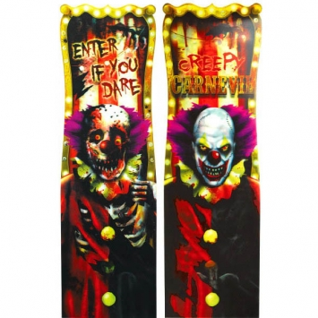 Creepy Carnival Lenticular Sign 37 in.
