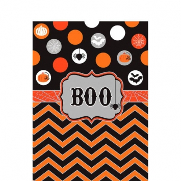 Modern Halloween Plastic Table Cover 102 in.