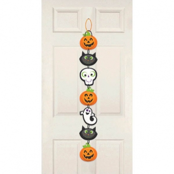 Friendly Halloween Long Sign 28 in.