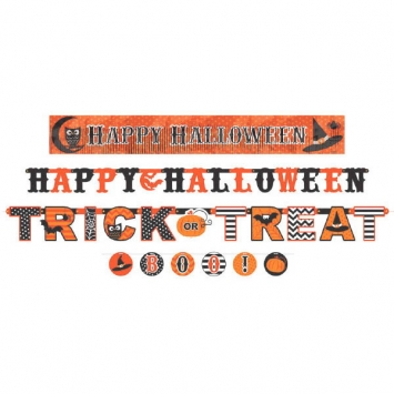 Modern Halloween Letter Banner Value Pack 4ct