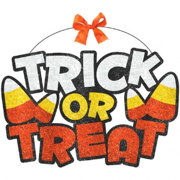 Trick or Treat Large Sign 9.5 x 11.875 in