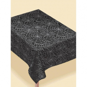 Spider Web Flannel-Backed Vinyl Table Cover 90 in.