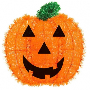 Pumpkin Tinsel Decoration 13 in.