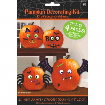 Pumpkin Decorating Kit Cute Characters 29pcs